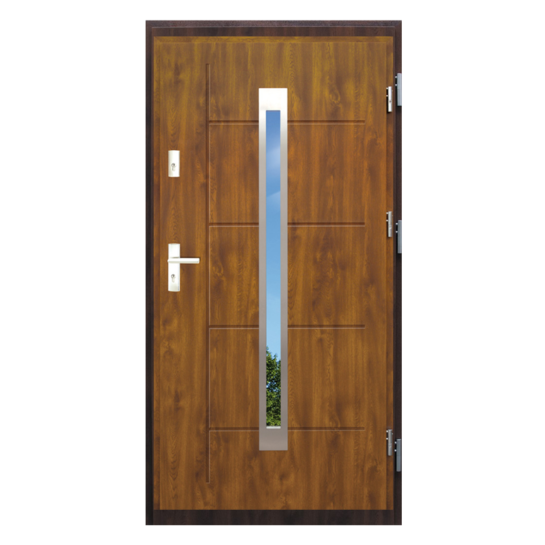Drzwi zewnętrzne stalowe z drewnianą futryną – Disting Nicollo 11