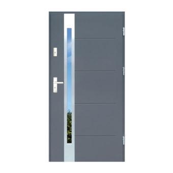 Drzwi zewnętrzne stalowe z drewnianą futryną – Disting Nicollo 12b
