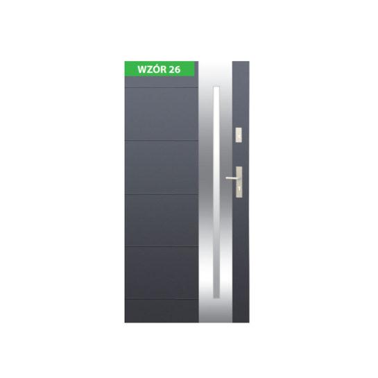 Drzwi zewnętrzne stalowe z ościeżnicą stalową lub aluminiową – Wikęd nr 26