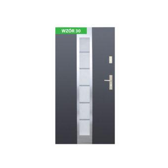 Drzwi zewnętrzne stalowe z ościeżnicą stalową lub aluminiową – Wikęd nr 30