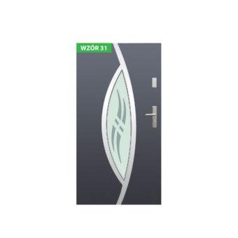 Drzwi zewnętrzne stalowe z ościeżnicą stalową lub aluminiową – Wikęd nr 31
