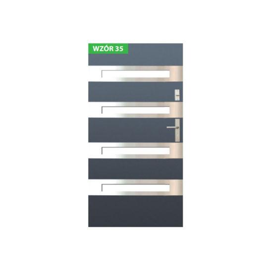 Drzwi zewnętrzne stalowe z ościeżnicą stalową lub aluminiową – Wikęd nr 35