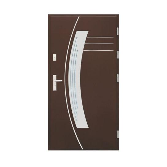Drzwi drewniane Wiatrak – wzór WP14 INOX
