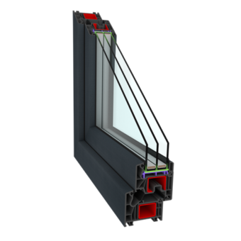 Okna PCV – Perfectherm Antracyt