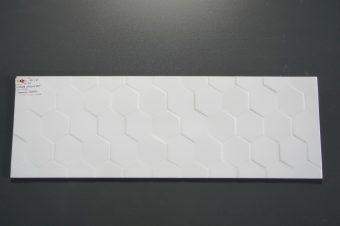 Płytki ścienne Charisma Hexagon White 25×75 cm